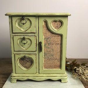 Vintage Upcycled Shabby French Jewelry/Trinket Box